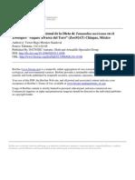 Caracterización Nutricional de La Dieta de Tamandua Mexicana