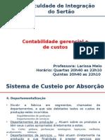 AULA 03_Contabilidade Gerencial_Continuação Sistema de Absorção