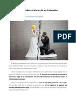 Todo sobre el divorcio en Colombia
