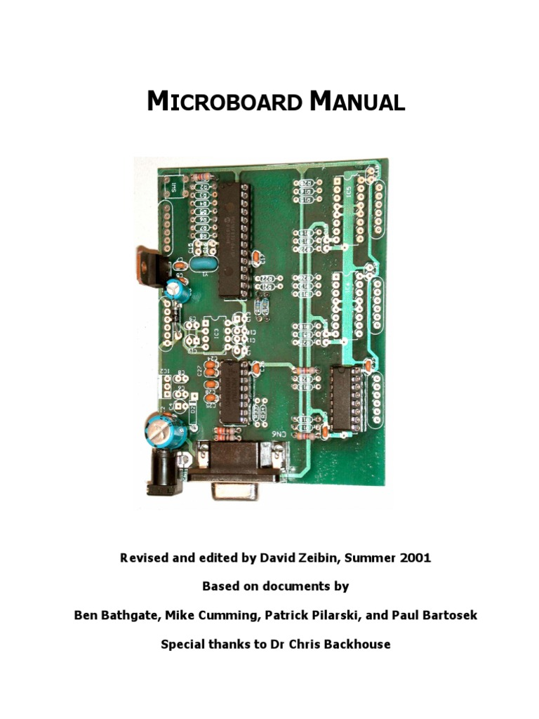 Micro Board 2001 Analog To Digital Converter Pic Microcontroller Circuits Icsp In Circuit Serial Programming Based On Pic16f84