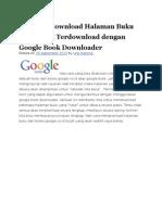 Cara Mendownload Halaman Buku Yang Tidak Terdownload Dengan Google Book