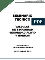 Valvulas de Alivio SEMINARIO