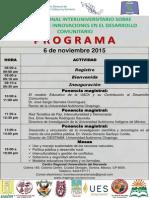 Programa Conferencias Magistrales