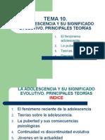 Diapositivas Tema 10 La Adolescencia y Sus Signif