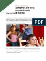 Pago de Alimentos No Evita Prisión Por Omisión de Asistencia Familiar