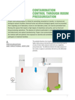 CONTAMINATION CONTROL THROUGH ROOM PRESSURISATION
