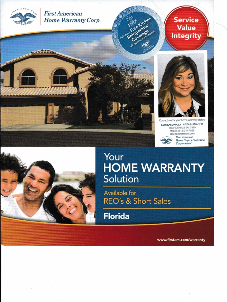 First American Home Warranty Corp Hvac Industries