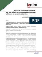 Analisis Critico Pedagogia Sistematica L Millar