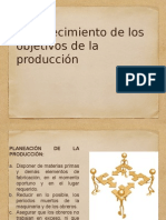 objetivos de la produccion
