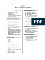 Resumen Pasos Project 2010