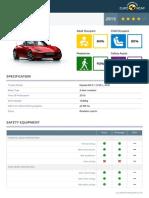 2016 Mazda MX-5 Euro NCAP Result