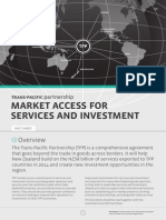 TPP Factsheet Market Access Service Investment