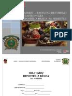 Recetario Reposteria Basica Uaemex2014