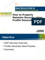 Properly Maintaining Security With PFCG