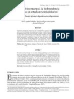 Un modelo estructural de la dependencia al tabaco en estudiantes universitarios