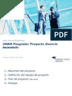 UNAM Presentacion de divorcio incausado
