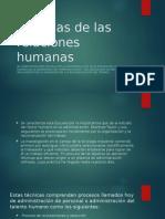 Escuelas de Las Relaciones Humanas