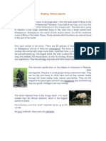 Reading African Species