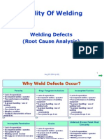 WELDING-Root Cause for Defects