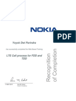 LTE Call Process for FDD and TDD