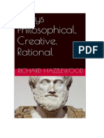 Essays Philosophical, Creative, Rational