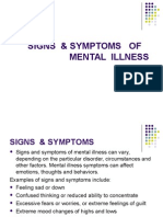 Signs &Symptoms of Mental Illness