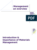 Materials Management an Overview