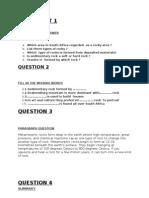 Worksheet and Summary