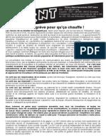 En grève pour qu'ça chauffe! Mobilisation Du Jeudi 8 Octobre 2015
