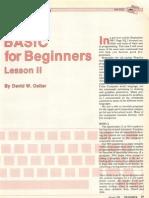 Basic 4 Beginners II