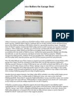 How To Repair Service Rollers On Garage Door