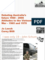 Debatingaustraliasfuture1960-2000 Attitudestothevietnamwar–1965and1970 Jleech