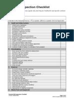 General HSE Inspection Checklist