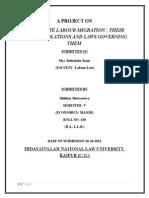 Shikhar Shrivastav. Sem 5. Sec B. Labour Law (1)