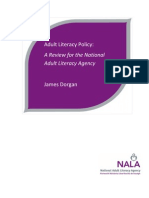Adult Literacy Policy - A Review for the National Adult Literacy Agency 2009