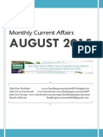 August 2015 Current Affairs