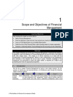 Scope and Objectives of financial management