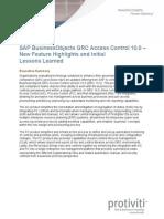 SAP BusinessObjects GRC Access Control 10.0 Protiviti