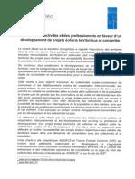 Charte des collectivités et des professionnels en faveur d'un développement de projets éoliens territoriaux et concertés