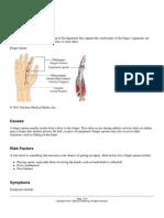 Ligament Tear for Finger