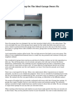 Criteria For Deciding On The Ideal Garage Doors Fix Support