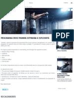Programma Cross Training Settimana 4_ Esplosività _ Domyos