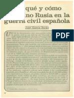 Por Qué y Como Intervino Rusia en La Guerra Civil