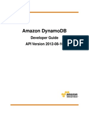 Dynamodb Dg | Database Index | Scalability
