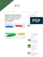 Guide Retrogaming Through Emulation (Part 2 Emulator Software