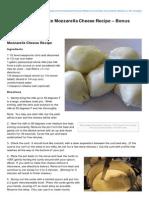 Homemade 30 Minute Mozzarella Cheese Recipe Bonus Ricotta Cheese