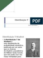 8 Distribuição t Student