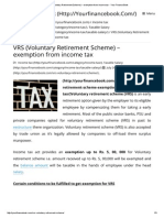 VRS (Voluntary Retirement Scheme) – Exemption From Income Tax - Your Finance Book