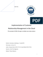Implementation of CRM in the Cloud