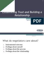 Establishing Trust & Building Relationshilp